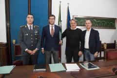 Firma_Protocollo_intesa_Comandante_Vincenzo_Grisorio_Donato_Parete_Antonio_Zaffiri_Antonio_Di_Marco